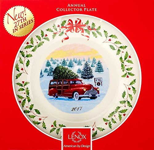 Lenox 2017 Holiday Collector Plate - 27th Edition New in box Made in USA fine bone china 24 k Gold rim
