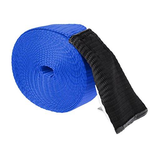 SM SunniMix Correas Impermeables Hebilla de Metal Correa de Amarre Correa para Caja de Techo Caja de Almacenamiento de Bolsa de Techo - Azul, 300x2.5cm