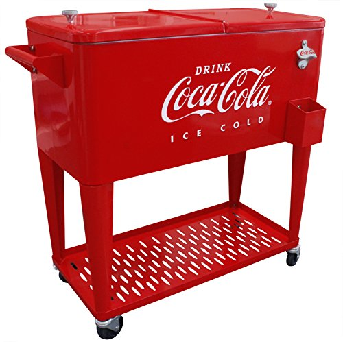 Leigh Country CP 98126 80 Qt Grated Tray Coca-Cola Cooler, Red