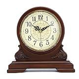 Zavddy Reloj de Chimenea Vintage Tabla de Madera Reloj Reloj Reloj Manto de Escritorio de diseño de Madera for el Dormitorio Oficina Cocina Escritorio Estante Relojes Reloj del Viejo Mundo
