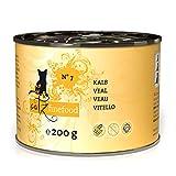 Mühlan Zoobedarf 6x Catz finefood No. 7Ternero 200g, húmedo Forro, Gato Forro