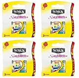 Schick Silk Effects+ Plus Refill Cartridges, 12 Count (Packaging May Vary)