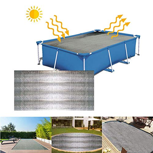 Esplic Pool Solar Cover, Solar Cover, Pool Solar Heating Blanket, Pool Covers Uv Protection, Above Ground Pool Insulation Film, 5,24 5,24 Fuß
