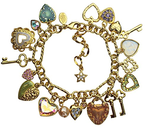 "Kirks Folly Sweetheart Seaview Moon Charm Bracelet - Adjustable 7""-9"""