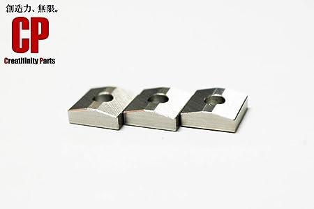 [Amazon]3個set ステンレス製 FRT用 ナットクランピングブロック ナットキャップ フロイドローズ等に オーステナイト系 SUS304 Creatifinity Parts製品 CS-NM1-3P