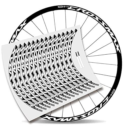 Kit adesivi bicicletta Stickers cerchione Mavic Crossmax Pro Carbon 29'' MTB BTT B (bianco)
