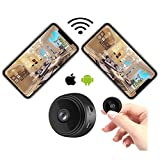 WiFi Hidden Mini Spy Camera with Cell Phone App Remote View ,Ultra Clear and Smooth Video Compact Size Support No Network Automatic Recording Motion Detection Warning and Night Vision etc