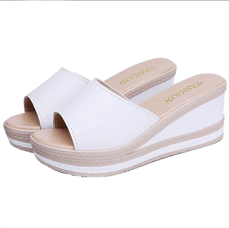 Elsa Wilcox Women's Open Toe Slip on Platform Wedges Slide Sandal shoes Summer Wedge Sandals