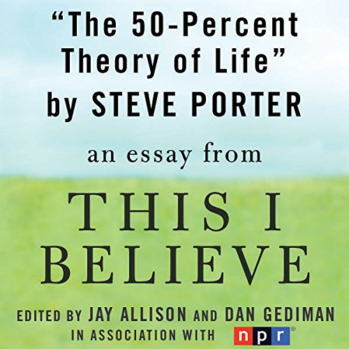 The 50-Percent Theory of Life audiobook cover art