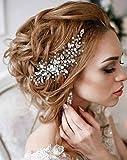 Simsly, fermaglio a pettine, accessorio per capelli, da sposa, con cristalli, frontino per...