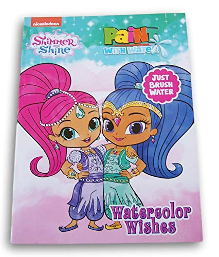 Dreamtivity Shimmer and Shine ''Watercolor Wishes'' Paint with Water Book - Features 12 Paintings
