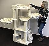 Rascador para gatos grandes Corner Crema arbol xxl maine coon gato gigante sisal muebles sofa casa escalador casita torre Árboles rascadores cama cueva repuesto medianos