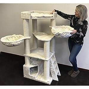 RHRQuality kratzbaum Grosse Katzen stabil XXL Corner Coon Beige katzenkratzbaum für Maine Coon große katzenbaum schwere… 3