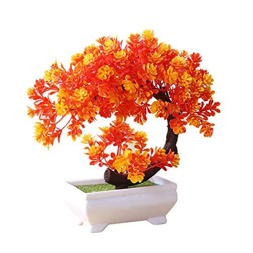 Simulación Grande árbol bonsái en Maceta Falso Planta Artificial Adorno de Escritorio decoración del hogar Rosa