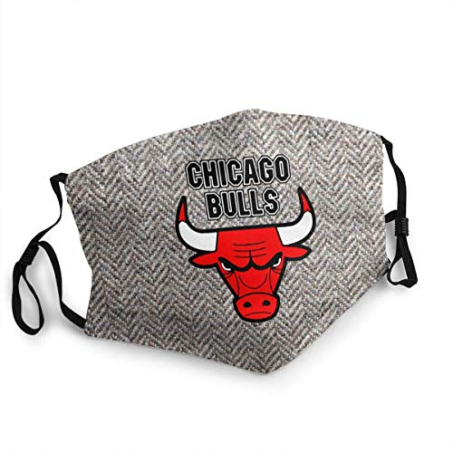 Mundschutz Mundschal Gesichtsschutz Chicago Basketball Bul-ls Atmungsaktive Staubdichte Wiederverwendbarer Bnadana Balaclava mit Filter