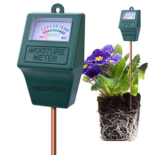 NOUVCOO Bodentester Feuchtigkeitssensor Moisture Sensor Meter Messgerät für Garten, Pflanzenerde, Rasen, Bauernhof, Drinnen und Draußen (kein Batterien Erforderlich) KP02