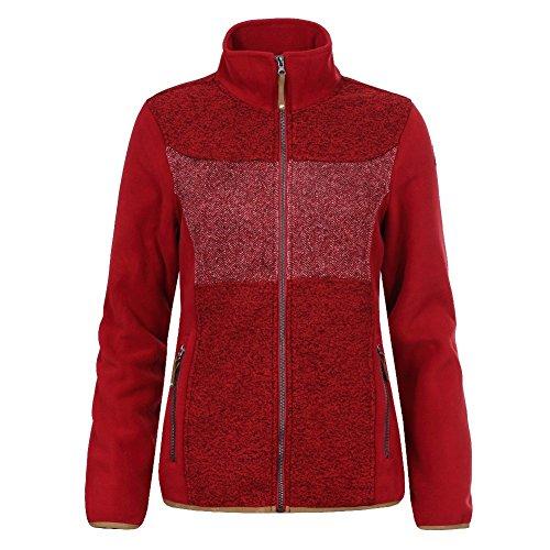 Strickfleecejacke für Damen von Icepeak Taipa, Farbe:Rot;Bitte Größe wählen:38