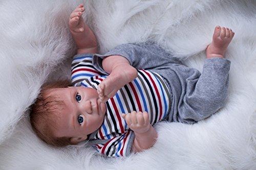 OUBL 22 Pulgadas 55 cm Reborn muñecas Bebe Baby Doll niño Nacido Silicona Vinilo Toddler Magnetismo Juguetes
