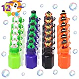 12 Pcs Halloween Themed Bubbles in 4 Spooky Designs Mini Bubble Maker Toys Treat or Trick Gift Set for Kids Halloween Party Favors