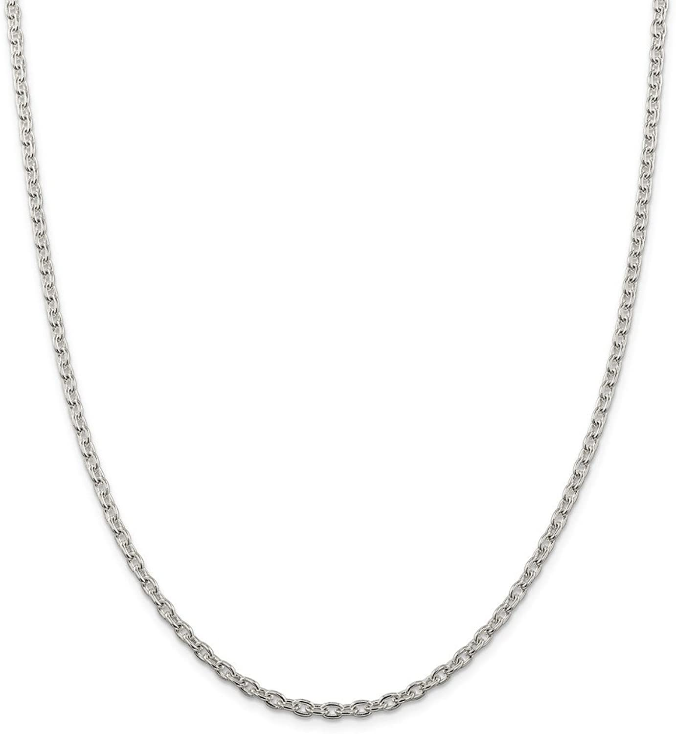 Beautiful Sterling silver 925 sterling Sterling Silver 3.5mm Cable Chain