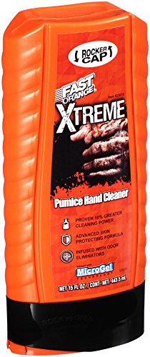 Permatex 25616 Fast Orange Xtreme Hand Cleaner with Rocker Cap, 15 oz.