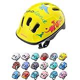 Casco Bicicleta Bebe Helmet Bici Ciclismo para Niño - Cascos para Infantil Bici Helmet para Patinete Ciclismo Montaña BMX Carretera Skate Patines monopatines (S 48-52 cm, Dino)
