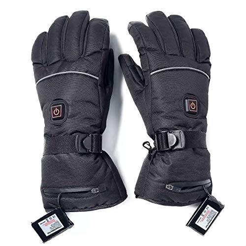 Nrpfell Wieder Aufladbare Beheizte Handschuhe Batterie Betriebene HEI?E Handschuhe Set für Skitouren, DrüCken Sie Bildschirm Warme H?Nde