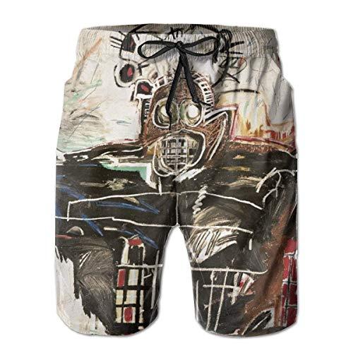 Shichangwei Jean Michel Basquiat Boxer - Bañador para hombre, de secado rápido, pantalones cortos de fiesta
