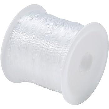 Pandahall 20m/roll 0.6mm Transparent Crystal Nylon Beading Wire Cord Jewelry Bracelet Making Craft String