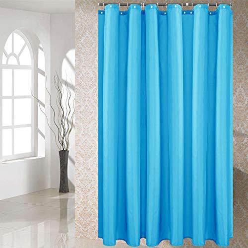 ToDIDAF Wasserdichter Duschvorhang Hochwertiger Dicker Anti-Schimmel-Duschvorhang Einfacher einfarbiger Vorhang für Zuhause Hotel-Badezimmer (Hellblau, 280X200CM)