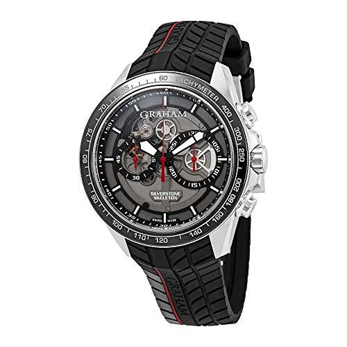 Graham Silverstone RS Skeleton - Reloj de Pulsera para Hombre, edición Limitada, Color Rojo, 2STAC1.B01A.K89F