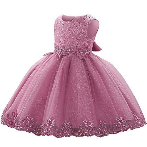 LZH Toddler Princess Flower Dress Baby Girls Birthday Wedding Party Dresses