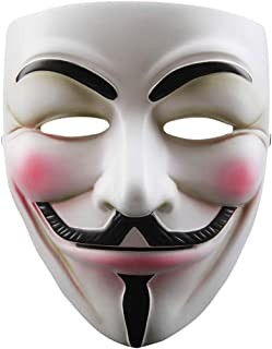 V for Vendetta Anonymous Guy Fawkes Resin Cosplay Mask Party Costume Prop Toys White