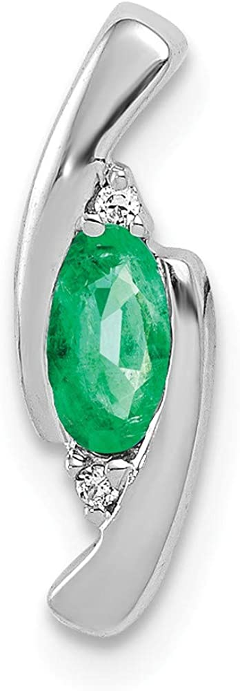 Solid 14k White Gold Unique Cheap mail order shopping Diamond Emerald Green Cheap mail order shopping May Gemsto and