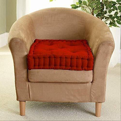 AINIYUE Gartenstuhl-Kissen, verdicken Normallack-langes Kissen, verlängern kundengerechtes Bank-Kissen, für Hauptsitz 45x45cm Rot-3