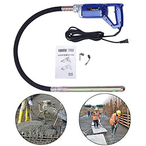 Bizoepro Portable 13000 RPM Concrete Vibrator 800W 3/4 HP Hand Operated Remove Air Bubbles handheld Construction Vibrator