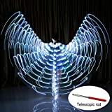 Soulitem Tanz Wings Glow Leuchten Halloween Kostüme Bühnenkleidung für Erwachsene