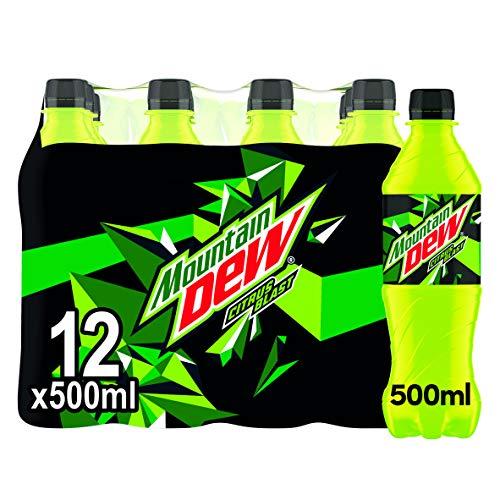 Mountain Dew - Citrus Blast - Exhilarating - Intensely Refreshing - Bold Taste - Pack of 12 x 500ml Bottles