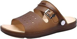Canserin Men's Casual Anti-Slip Beach Shower Sandals Slip on Outdoor Walking Summer Slippers