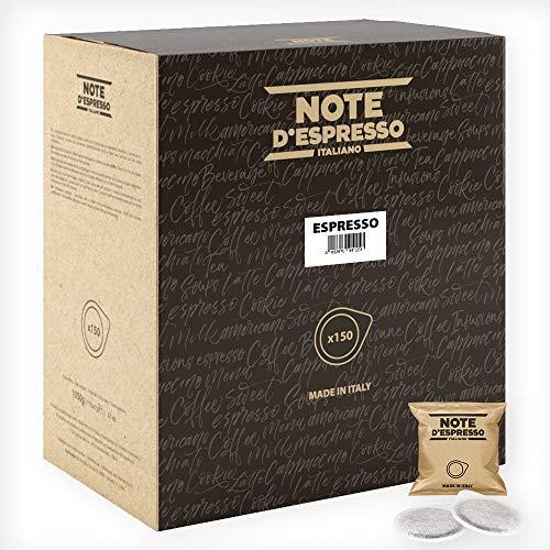 Note D'Espresso - Bolsitas de café expreso monodosis, 7g (caja de 150 bolsas de papel)