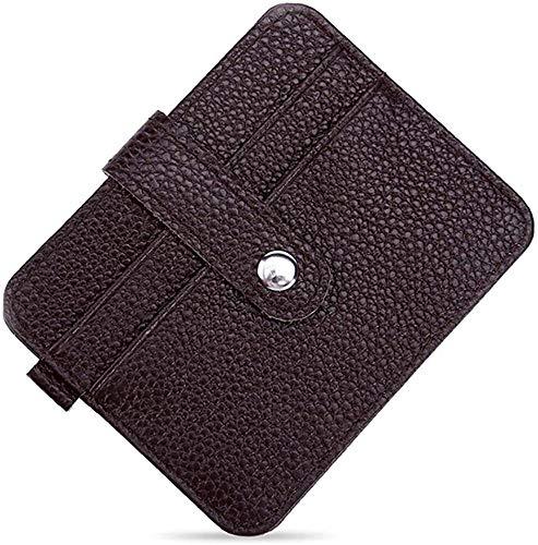 Monedero, bolso de embrague, monedero de cartas, carteras de tarjetas de crédito, protector de tarjetas Modelo corto de la cartera de múltiples cartas de la tarjeta de la tarjeta de primera capa de cu