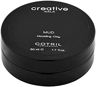 """Cotril Creative Walk Professional Styling Finishing Clay for Men Women """"Mud"""" 50 ml. Non-Greasy, Matte Finish. Models Hair, Adds Natural Texture and Definition. Strong Hold. Unisex."""