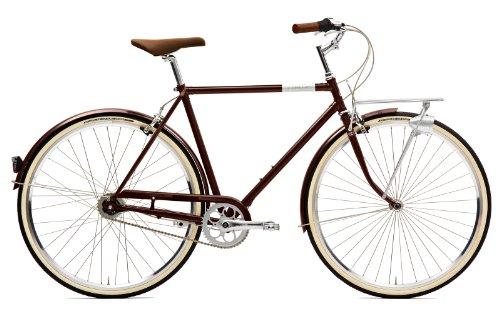 Creme Citybike Caferacer Men Solo 3 Speed, Darkbrown, 60.5, BI-CRE-4107