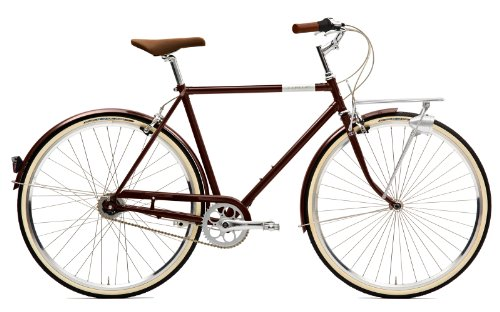 Creme Citybike Caferacer Men Solo 3 Speed, Darkbrown, 55, BI-CRE-4107