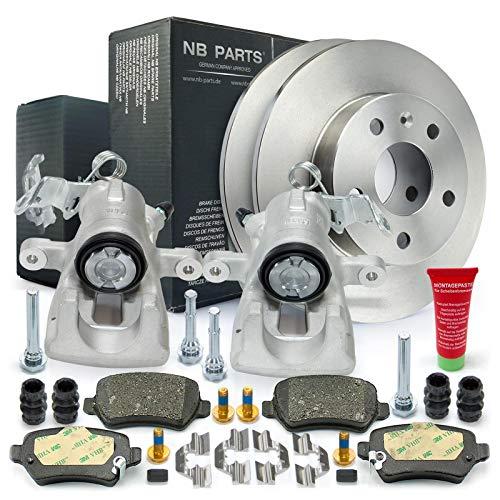 Bremsen/Bremsscheiben + Bremsbeläge + 2x Bremssattel hinten NB PARTS GERMANY 10045550