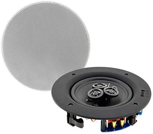 Einbaulautsprecher 2-Wege High End Lautsprecher für Einbau in Wand & Decke Ø 204mm 80Watt 8Ohm Weiß