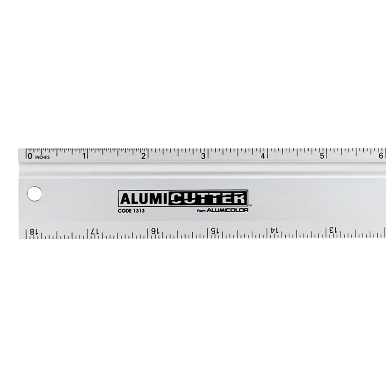 Alumicolor Alumicutter, Safety Ruler and Straight Edge, Aluminum, 12 inches, Silver (1312-1)
