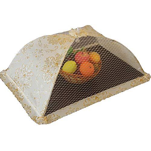 Rete pieghevole per alimenti, zanzariera, copertura a cupola, 1 pezzo, in pizzo, per barbecue, zanzariera, cucina, tenda, ombrello per campeggio e torta, rete in pizzo