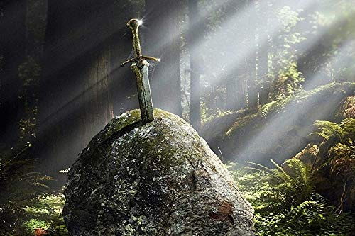 Zhy NEU Excalibur Schwert Leichtes Puzzle 1000 Stück Dekompressionslandschaft für Erwachsene Super schwieriges großes handgemachtes Geschenk Kinderspielzeug