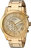 GUESS  Gold-Tone Stainless Steel Chronograph Bracelet Watch with Date. Color: Gold-Tone (Model: U0668G4)